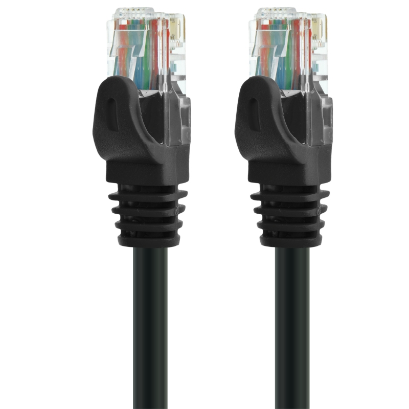Mediabridge Ethernet Cable - Supports Cat6 / Cat5e / Cat5 Standards (Black - 1 Feet) 5 Pack