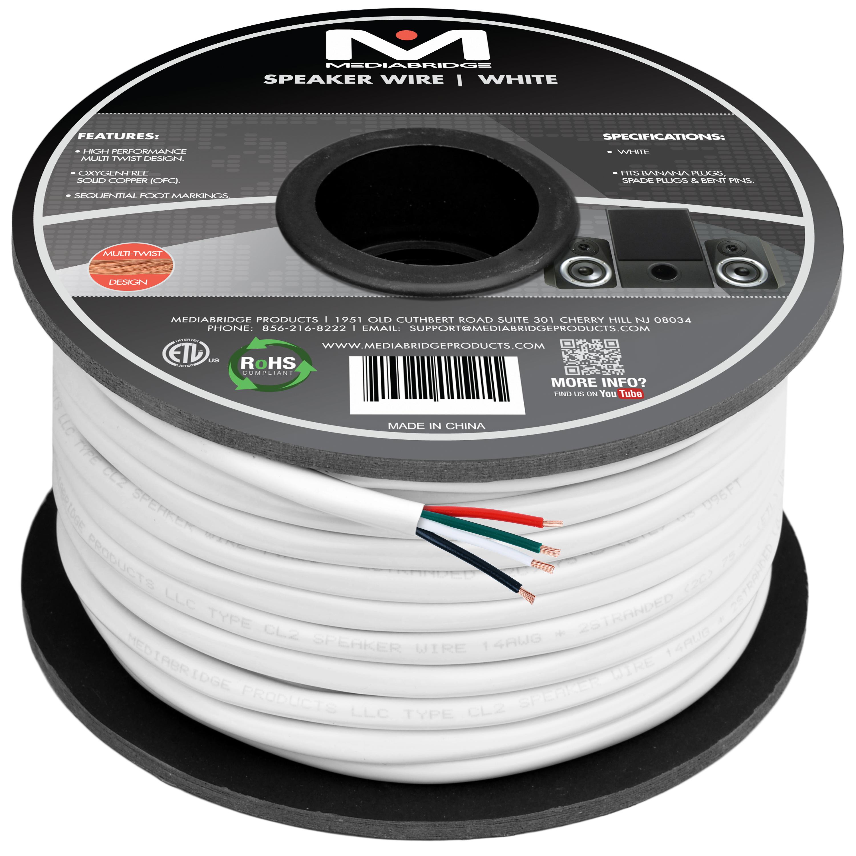 Shop New 4-Conductor Speaker Wire - 99% Oxygen Free Copper - ETL ...