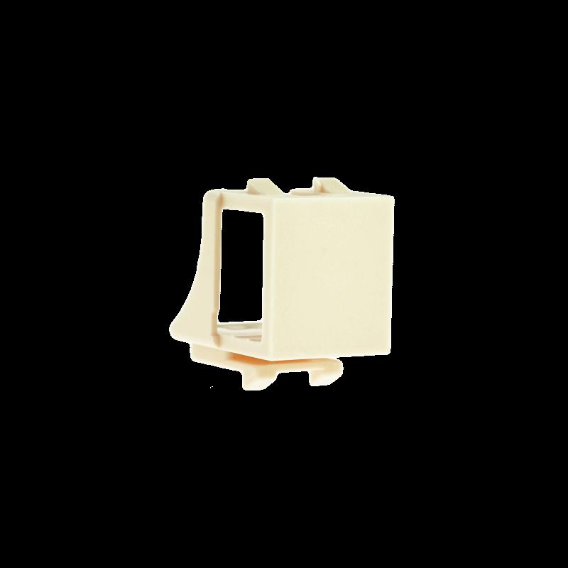 Blank Keystone Jack (Almond) - Blank Insert for Keystone Wall Plate - 10 Pack (Part# 51J-00-AL-10PK ) 10 Pack