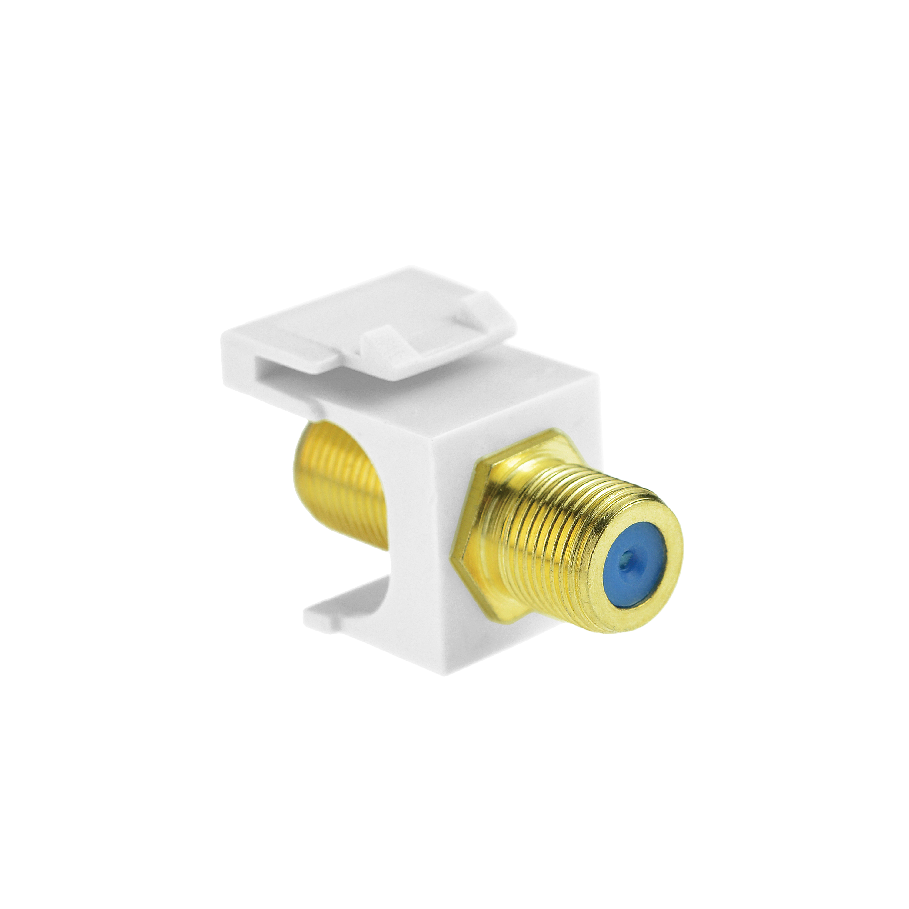 Shop New Coaxial Keystone Jack White Gold Plated Rg6 Insert For Wiring Wall Plate 5 Pack Part 51j F81 Wh 5pk