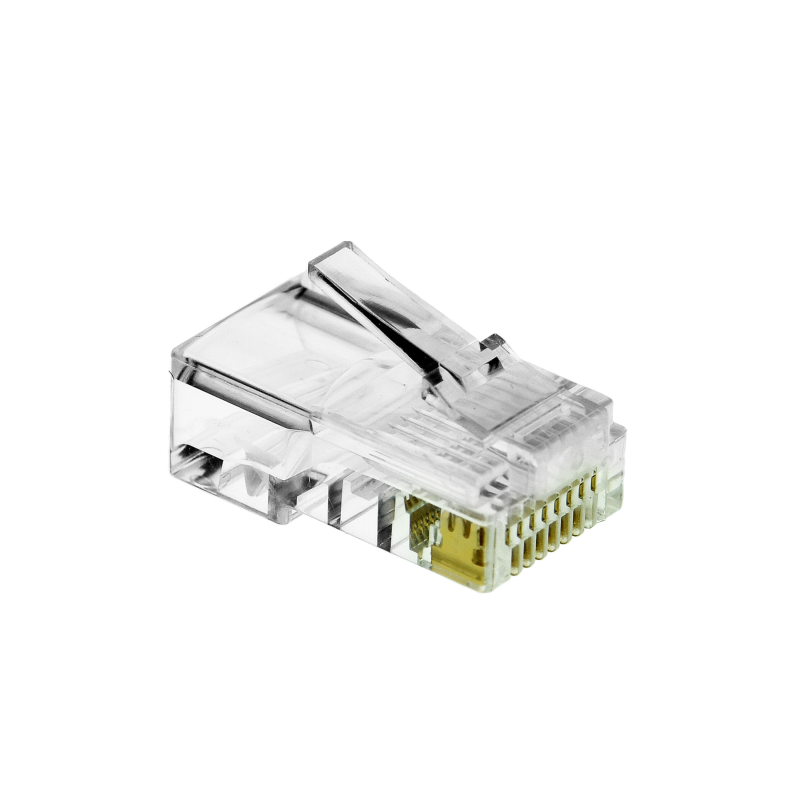 Cat5e Connector (Clear) - RJ45 Plug for Cat5e Ethernet Cable - 8P8C 50UM - 50 Pack (Part# 51P-C5-50PK ) (50 Pack) 50 Pack