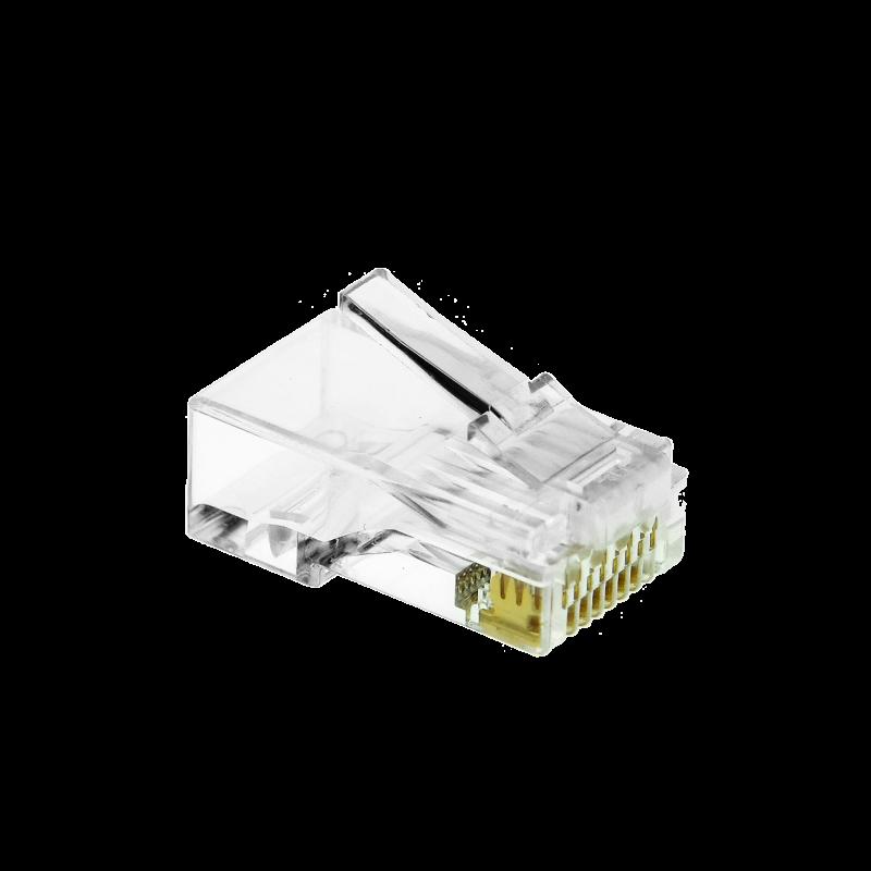 Cat6 Connector (Clear) - RJ45 Plug for Cat6 Ethernet Cable - 8P8C 50UM - 100 Pack (Part# 51P-C6-100PK ) (100 Pack) 100 Pack