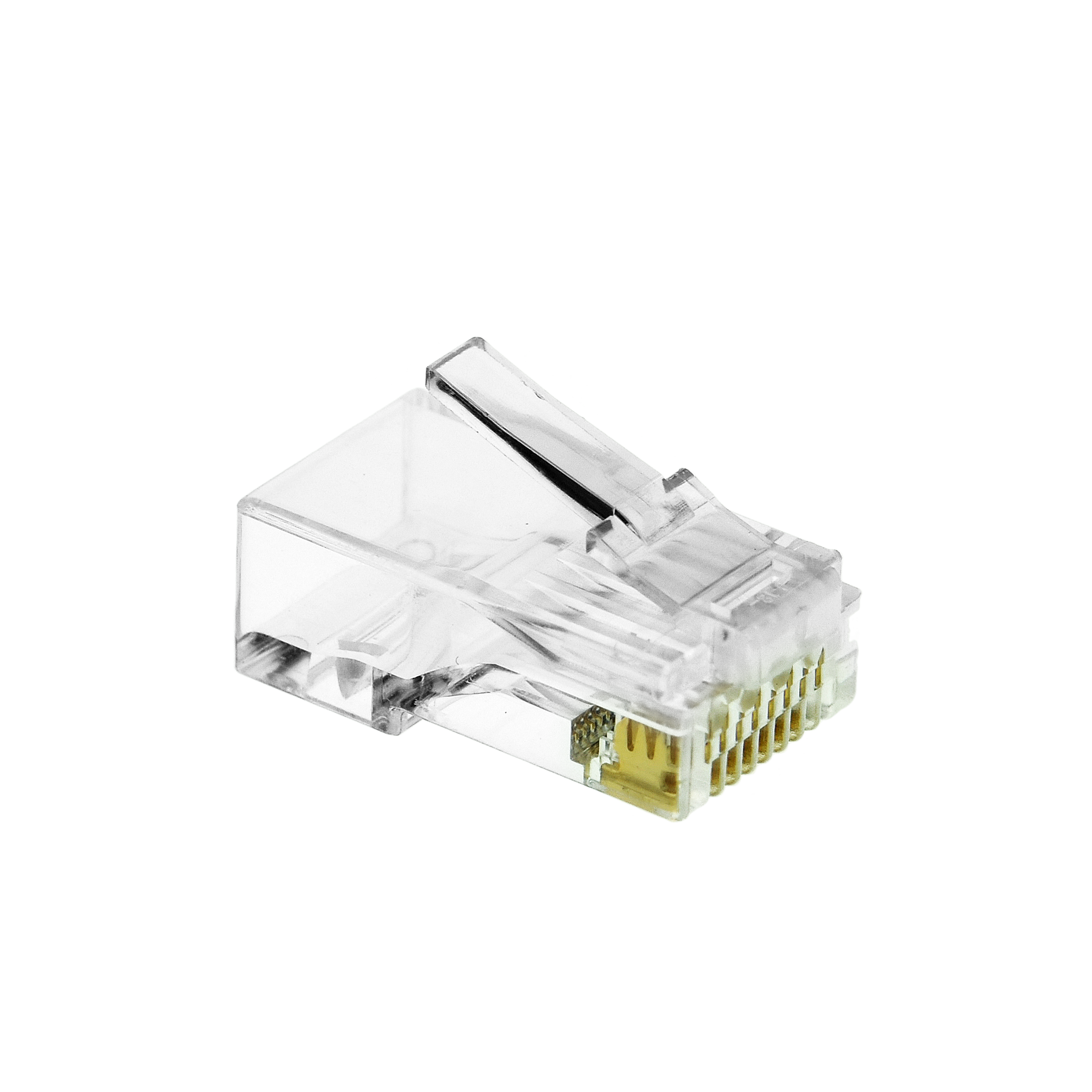 Shop New Cat6 Connector Clear Rj45 Plug For Ethernet Cable Wiring 8p8c 50um 100 Pack Part 51p C6 100pk