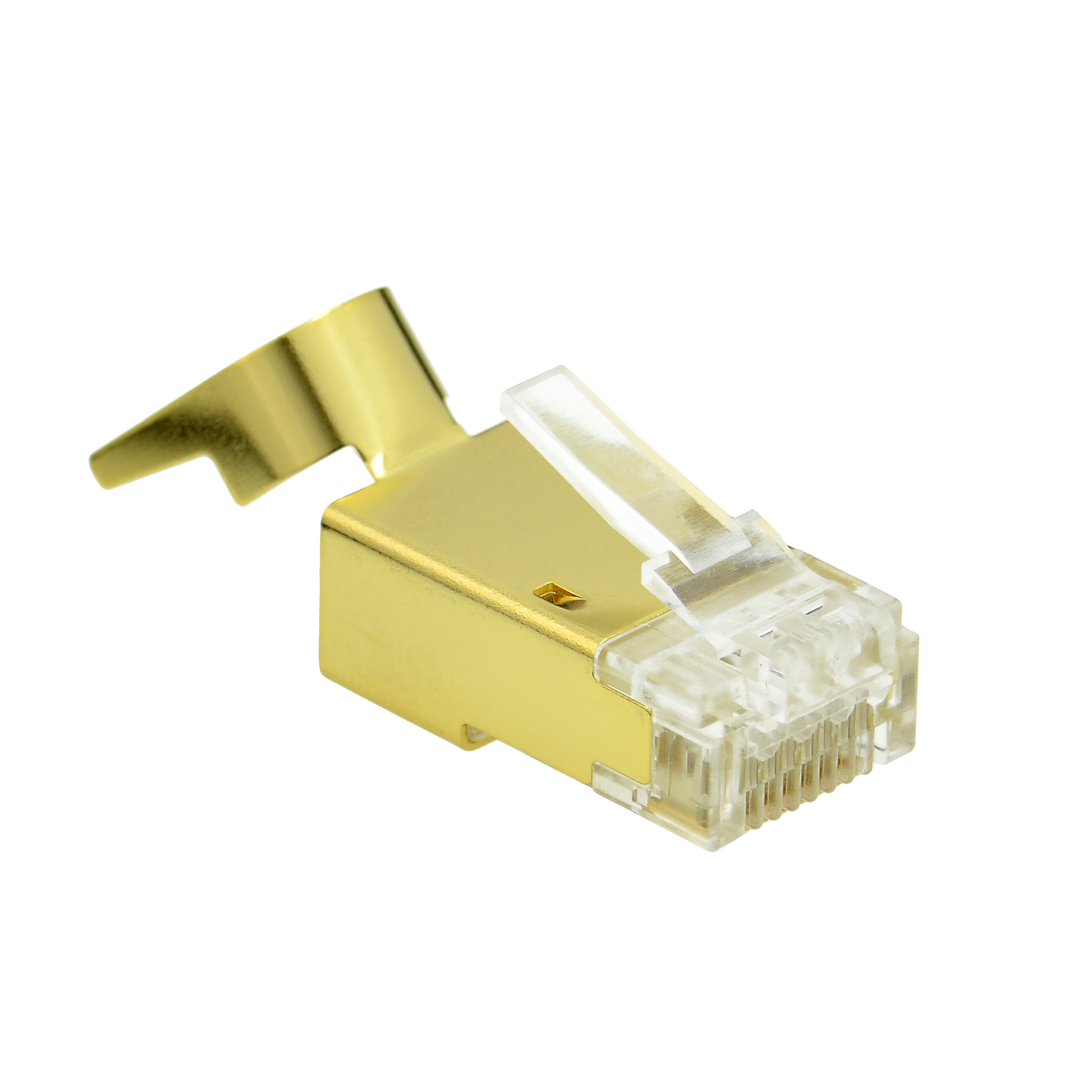 Shop New Cat7 Connector Gold Shielded Rj45 Plug For Jack Wiring Color Ethernet Cable 8p8c 50um 10 Pack Part 51p C7 10pk Colors
