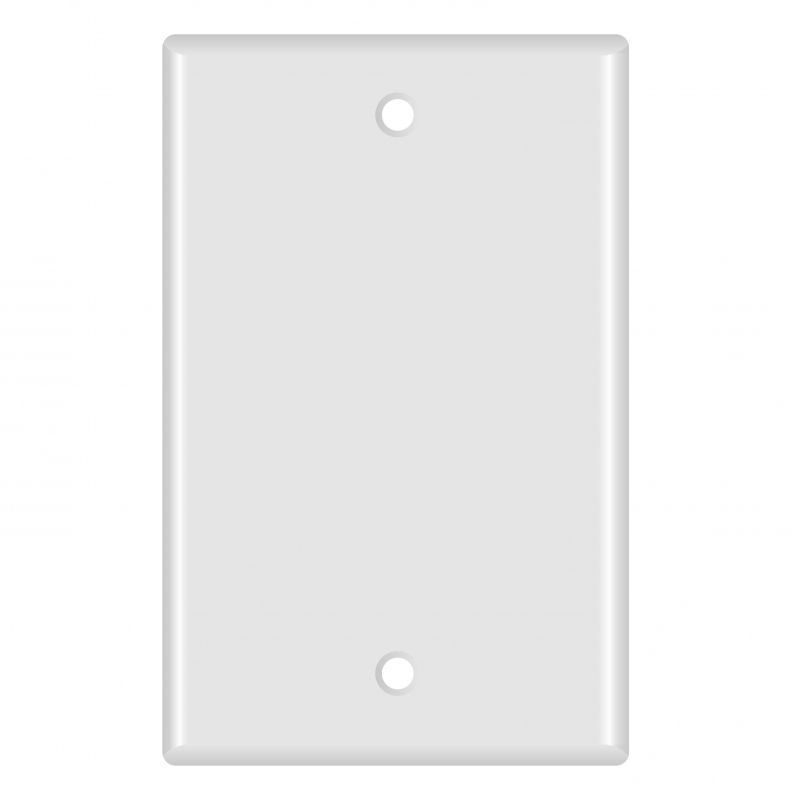 Blank Wall Plate (White) - 10 Pack (Part# 51W-100-10PK ) (Blank) 10 Pack