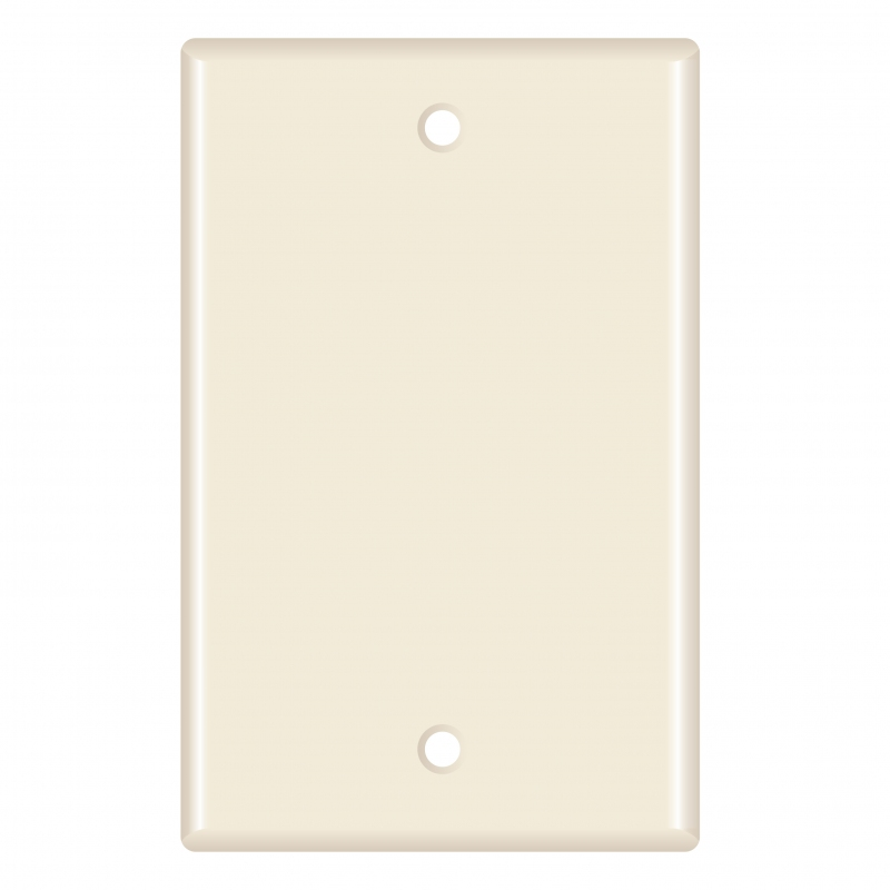Blank Wall Plate (Almond) - 5 Pack (Part# 51W-200-5PK ) (Blank) 5 Pack