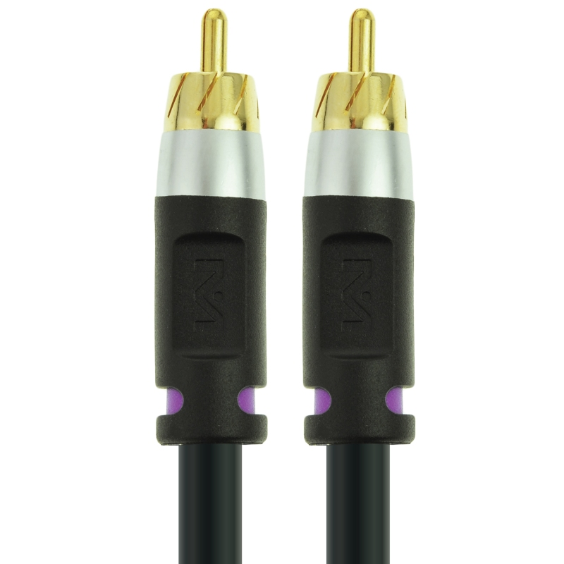 ULTRA Series Subwoofer Cable - Dual Shielded RCA to RCA (Black - 15 Feet)