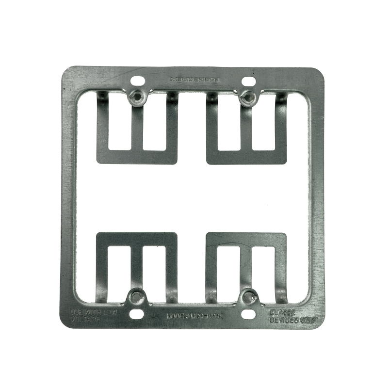 Low Voltage Metal Mounting Bracket - 2 Gang (2 Gang) 5 Pack