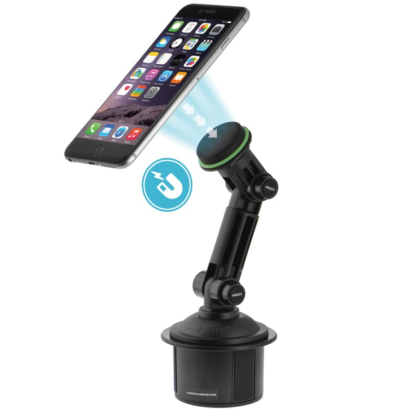Magnetic Phone Holder with Extended Cup Holder Mount (Part# PC3MC2 )
