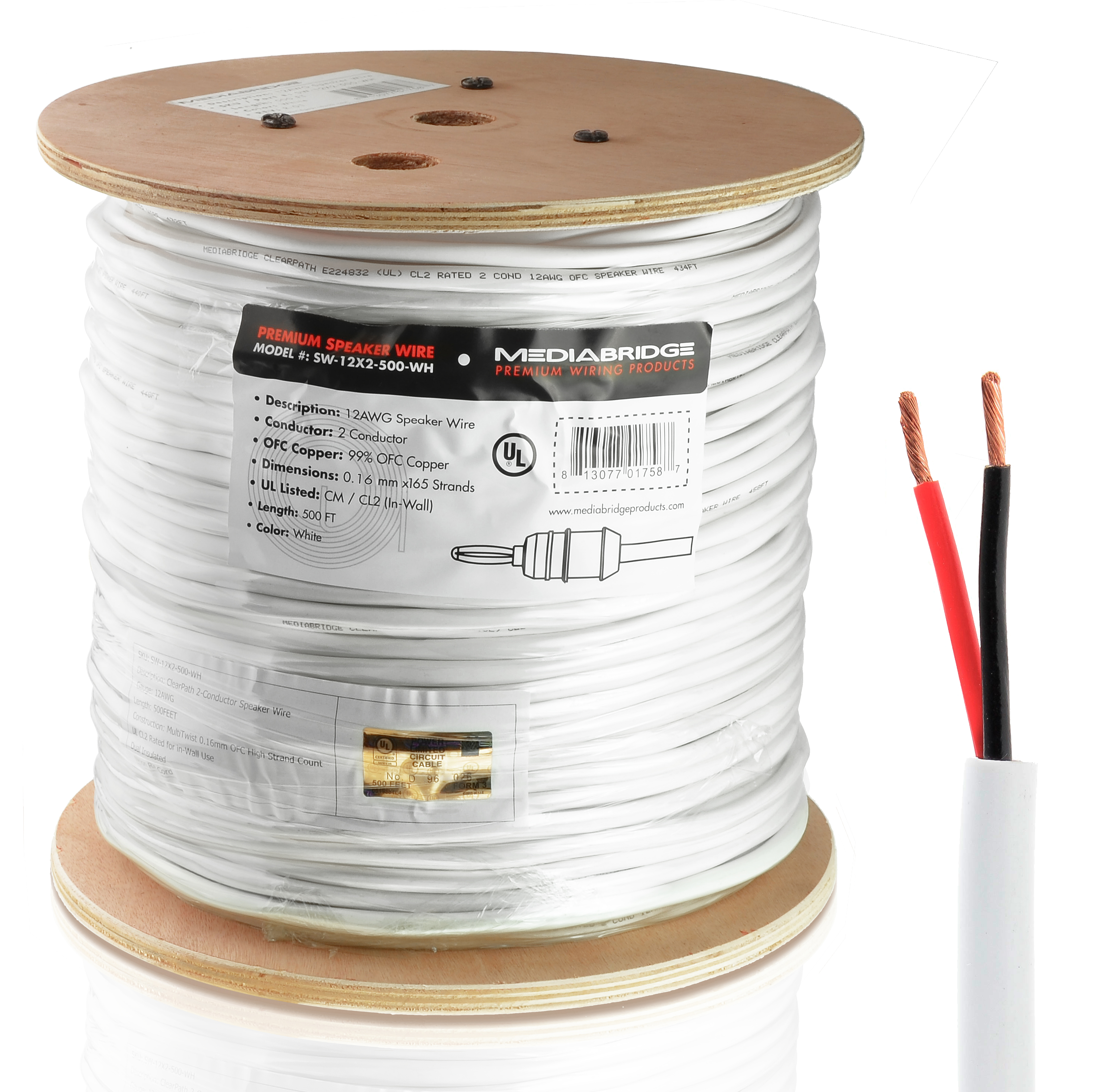 Shop new 12awg 2 conductor speaker wire 500 feet 999 oxygen 12awg 2 conductor speaker wire 500 feet 999 oxygen free copper 12 gauge 500 feet greentooth