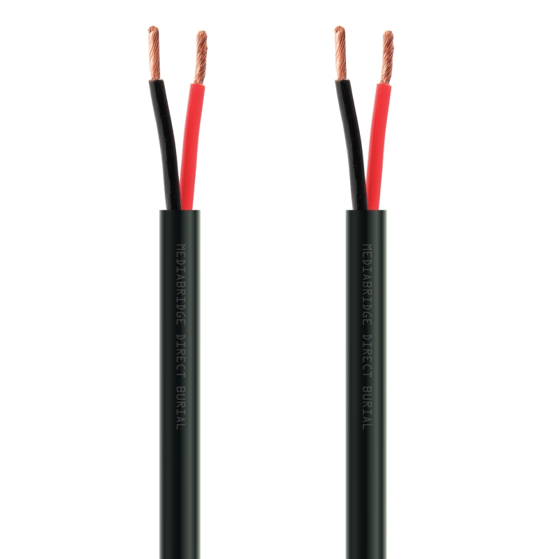 12AWG 2-Conductor Direct Burial Speaker Wire - 99.9% Oxygen Free Copper - UL Listed - Rated for Direct Burial Use (50 Feet)
