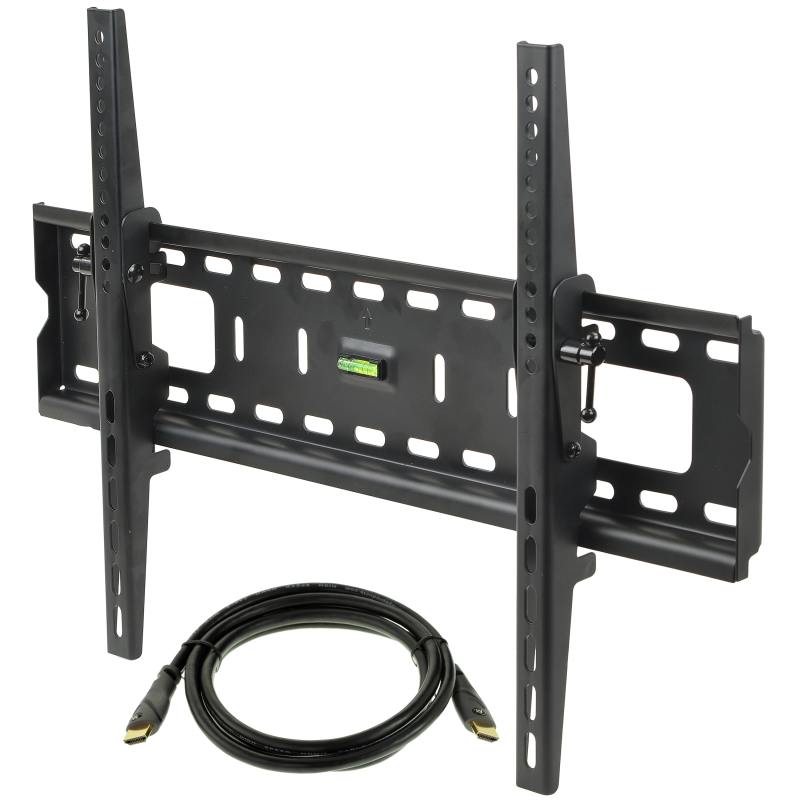 "Tilting TV Wall Mount with 6FT Mediabridge HDMI Cable, TV Bracket Fits Most 37"" to 70"" TVs up to 165 LBS, VESA Compliant"